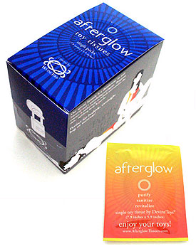 Afterglow Sex Toy Cleaning Wipes